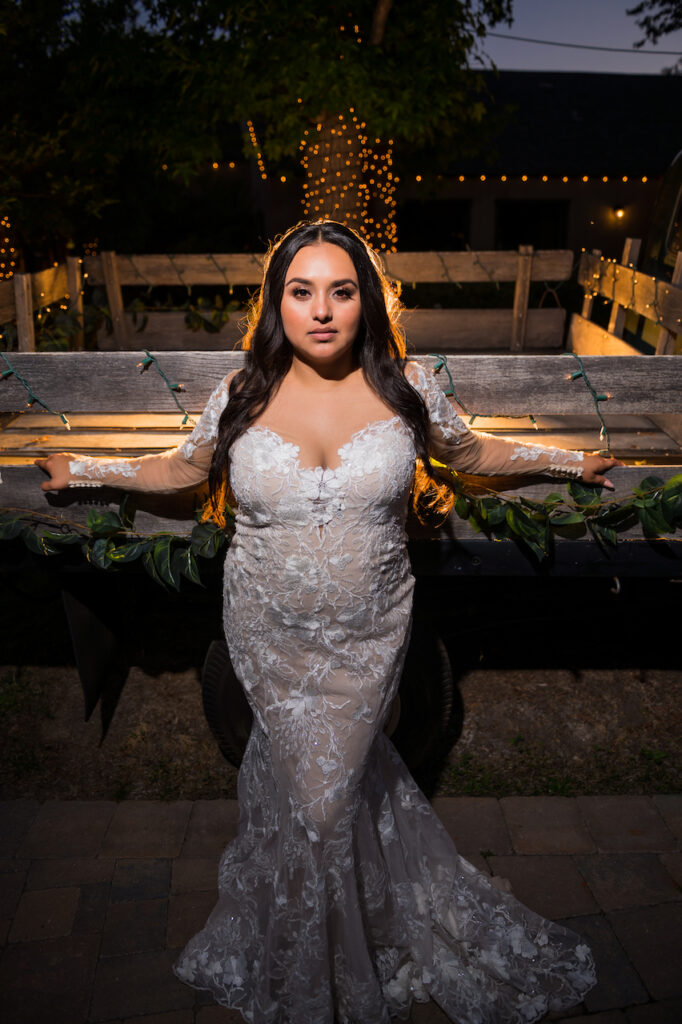 bride at night picture